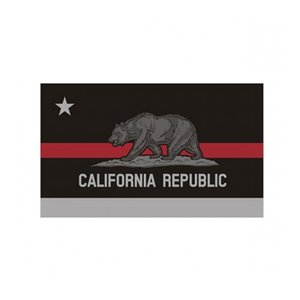 California State Flag Thin Red Line Flag 3x5 FT Firefighter Banner 90x150cm Festival Gift 100D Polyester Indoor Outdoor Printed Flag