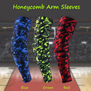 1 Pair Honeycomb Sport Basketball Shooting Elbow Pads Brace Support Guard Compression Cycling Arm Sleeve Warmers Elbow Protector