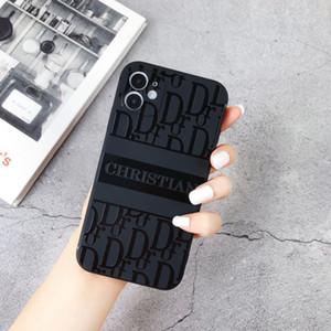 مصمم غطاء الهاتف أزياء العلامة التجارية القضية للحصول على هاتف اي فون 11 PRO MAX XS ماكس 7 8 زائد الأزياء الإغاثة غطاء الهاتف شحن مجاني