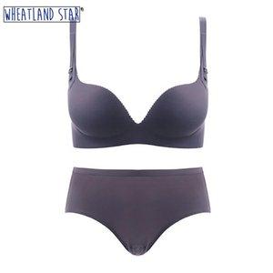 Lingerie Feminina Seamless Underwear Sets One-Piece Wire Free Push Up Female Bras Women's Underpants Sets Underwear & Sleepwears