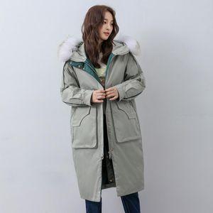 Luxury Long Womens Coats Winter Fur Boodbreaker Miegofce 2020 Down Collar Outwear Casual Warm Top Brands con chaquetas de talla grande XTNIO