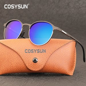 Cosysun Polarized Round Metal Frame Woman Sun Glasses Fishing Driving Brand New Fashion Sunglasses Female Uv400