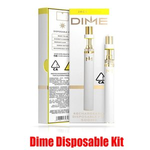 Hot Dime Disposable Vape Kit Pen 350mAh Battery Ceramic Coil 0.5ml Cartridges Atomizer Thick Oil Tank Vaporizer With Bottom USB 10 Colors