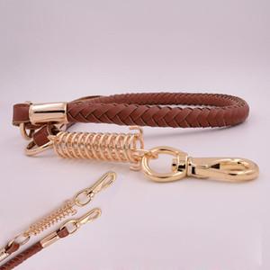 Large big genuine Cowhide dog chain Leashes german shepherd golden retriever dog Leash lead labrador collar leash for pet