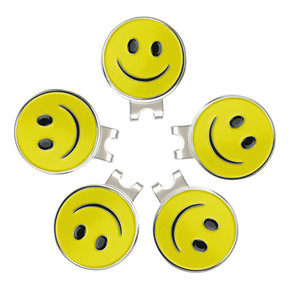 Pinmei Ball Mark Blank Hat Clip Sets Упаковка из 5 CAP CLIPS и Smilling Face Marker Markers Accessurant Accucts Accurchange СПИДа 201026