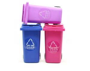 Big Mouth Toys Mini Trash Pencil holder Recycle Can Case Table Pen Plastic Storage Bucket Stationery Sundries Organizer Tools 5 colors