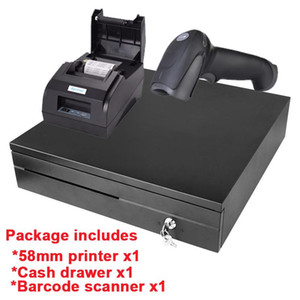 Package Printer 58mm Thermal Receipt Printer Barcode Scanner 335 cash drawer