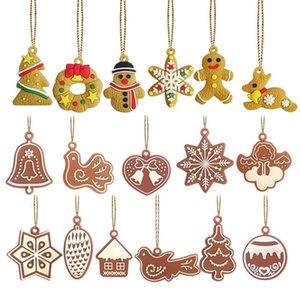 Рождественские украшения украшения колокольчиков птиц снежинки в форме Xmas дерево орнамент pandant для домашнего рождения партии декоративного BWC2874