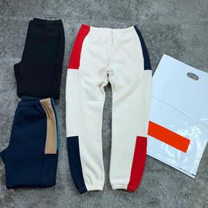 2020 Соединенные Штаты Америки мужчин брюки случайные хип-хоп брюки весна путешествия высокое качество прострочкой контрастного цвета плюс бархат связывании ноги брюки