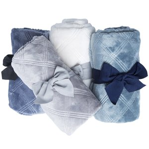 Couvertures NOUVEAU-NE NOUVEAU en Flanelle 3D Wrap Baby Boy Girl Girl Set Literie Set Enfant Poussette Couverture Enfants Couverture Y201009
