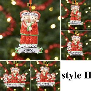 Fai da te Palla dell'albero di Natale 8 stili 2020 Quarantine Saluto di Natale Festa di compleanno Pandemic distanze Albero di Natale Ciondolo Decor DDA639
