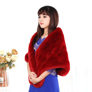 Women Faux Fur Cloak Luxury Winter Coat Scarves Red Wedding Cloak Hogwarts Gothic Wedding Wrap Bolero Jackets Bridal Coat