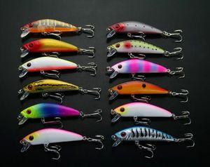 Wholesale Lot 24 Fishing Lures Crank bait Cranks Hooks Bass Baits Hooks 7.8g 7cm Hooks Baits Free Shipping