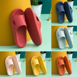 HyZ5 woman slippers fashion Beach high quality Thick bottom slipperswomen Shoes Alphabet lady flat slipper Sandals Leather High