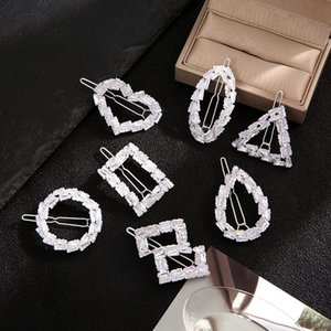 Циркон полная алмазная девушка Net Red New New Duck Beak Clip Korean High-End Atmosphere Hop Crystal Crystal Hairpin Headdress