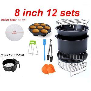 Аксессуары Fryer Fryer 8 дюймов подходят для Airfryer 5.2-6.8QT Baske Basket Pizza Picture Grill Pot Cook Cooking Tool1