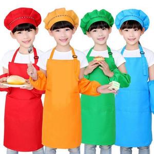 1Pc Children Apron Kids Sleeve Hat Pocket Kindergarten Kitchen Baking Painting Cooking Drink Enfant Tablier Delantal1