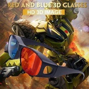 Lens Rosso Nuovo Occhiali 3D Blu per Dimensional anaglifi film DVD video TV del gioco orologio stereo film in 3D e giocare giochi 3D