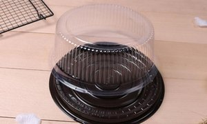 Big Round Box  8 Inches Cheese Box  clear Plastic Cake Container   Big Cake Holder Free Shipping Zhao jllTytu garden_light