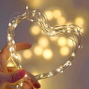 Fairy LED String Light Wire Wire Garland Inicio Partido de Navidad Decoración de la boda Powered by Battery Bated USB