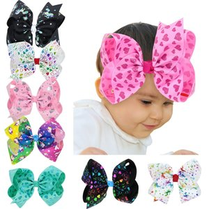 Baby cartoon horse barrettes Valentines Day love hair Bow Large Paint Splatter Love Heart Hair Clip For Girls Hair Accessories M2984