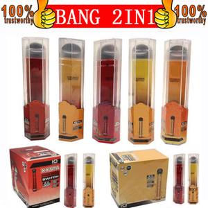 Bang Pro Max Interruptor Dispositivo Dispositivo De Votes De Votes Local 1000 + 1000 Puffs Bang XXL 2 em 1 Vape Descartilável E Cigarros 2000Puffs