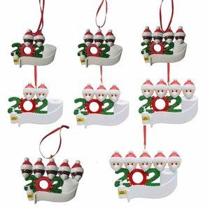 оптовые семьи Рождество 2020 Новый Рождество кулон маска для лица снеговика Ношение маски детей мужчин женщин Новогоднее украшение Survivor подарка