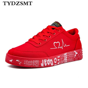 TYDZ 2020 Fashion Women Vulcanized Sneakers Ladies Lace-up Casual Breathable Canvas Lover Shoes Graffiti Flat Q1104