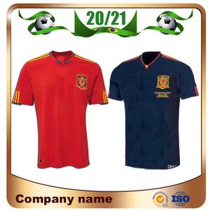2010 Retro Ausgabe Spanien Home Trikot WM 2010 PIQUE 6 A.INESTA DAVID VILLA FABREGAS Fußball-Hemd RAMOS SILVA Fußball-Uniform