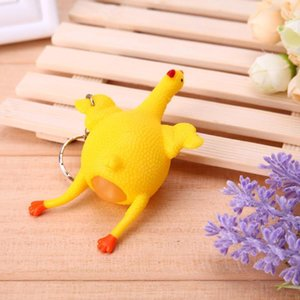 3Pcs Squeeze Chicken Egg Laying Hens Anti Stress Keychain Toy for Kids Adult PVC Tricky Funny Gadgets Party Prank Joke Toy 1 Pc Funny
