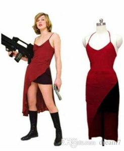 Resident Evil Alice Red Dress Cosplay costume Free Shipping