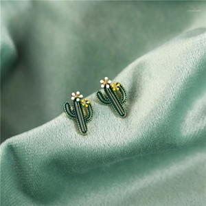 Lovely Enamel Plant Cactus Sunflower Daisy Stud Earrings For Women Girls Fashion Small Flower Earrings Jewelry Statement Jewelry1