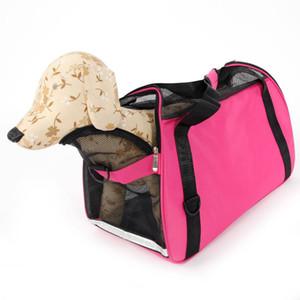 Hundebedarf Aushöhlen Tragbare Atmungsaktive Wasserdichte Pet Handtasche Rose Red L Dog Carrier