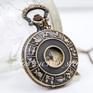 Novo quartzo grande constelação mapa relógio de bolso relógio retro jóias por atacado moda moda relógio sweater cadeia