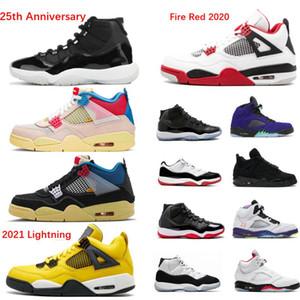 2020 농구 신발 11 11S 25 주년 기념 공간 잼 Bred Concord 4 4S Black Cat 5 화재 레드 6S Hare Men Sneakers