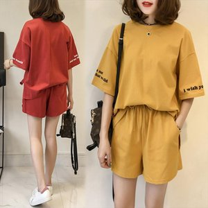 2020 summer new short sleeved T shirt shorts fashion women set lady suit girls two piece sports sets casual sexy big size