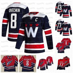 8 Alex Ovechkin Washington Capitals 2021 Third New Blue T.J. Oshie Nicklas Backstrom Tom Wilson Zdeno Chara Lundqvist Vrana Kovalchuk Jersey