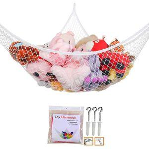 Mesh Net Toy Hammock Corner Stuffed Animals Toys Kids Baby Hanging Storage Organizer 2 Sizes