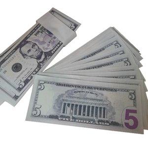 Children's 8d Billet Faux 5 Movie Fake Dollar 100pcs pack Play Bar Nightculb Rhifq Prop Money Party Toys Xljub