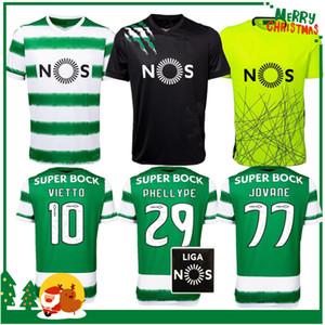 20 21 Sporting Clube de Sporting CP Lissabon Trikots Phellype 2020 2021 Fernandes Fußball Trikot Lizbon Dost Futbol Forması