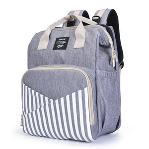 Diaper Bag Portable Folding Bed Light and Large Capacity Mummy Bag Stoller Waterproof Multi-function Mother and Baby