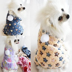 Print Soft Fleece Warm Dog Clothes Fall Winter Pet Dog Jumpsuit Tracksuit Puppy Clothing for Small Medium Dogs Cat Clothing