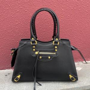 Mujeres Hombro Locomotora Bolsa Hombres Calidad Cuero Crossbody Handbag Retro Big Bag Classic City Black Monedero