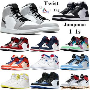 Mens 1 OG Tênis De Basquete Proibido Mid Bred Multi Color Ginásio Vermelho Chicago Black Toe Atletismo Sneaker Top 1s Formadores Mens  Shoes