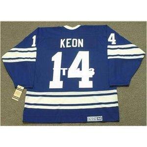 121s # 14 Dave Keon Toronto Maple Leafs 1967 CCM Vintage Fora Hóquei Jersey ou Personalizado Qualquer nome ou Número Retro Jersey