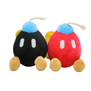 Super Mario Bros Plush Toys cartoon 19cm 7.5 inches Red black BOMB doll Stuffed Animals Party Gift Decorations Z0212