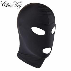 Seksi Unisex Bayan Erkek Yetişkin İç Şapkalar Role Play Kostüm İç Gece Cosplay Şapkalar Maske Hood Bondage Maske