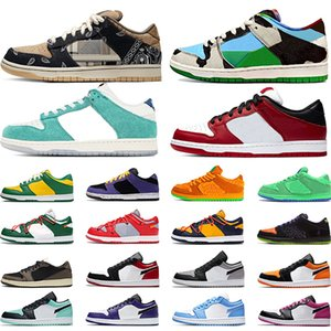 nike sb dunk low air jordan 1 Chaussures de skate Chunky Dunky Bears Green Chicago 1s Low Shattered Backboard basket-ball chaussures hommes femmes formateurs baskets de sport