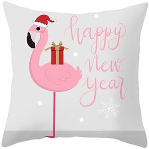 Fuwatacchi Cute Animal Pattern Cushion Cover Cartoon Christmas Style Pillow Cover for Home Sofa Car Decorative Throw Pillowcase