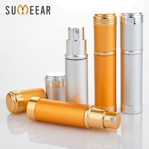 10Piece Lot 5ML Portable Spray Bottle Aluminum Refillable Glass Perfume With Sprayer Parfume Empty Cosmetic Containers